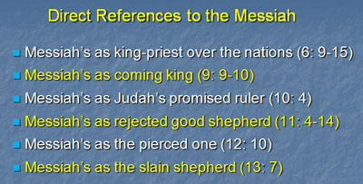Direct Reference to Messiah