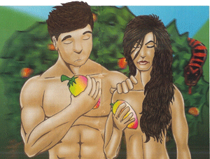 Adam and Eve Part-take the Fruits