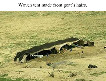 Woven tent made from goat's hairs