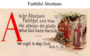 Abraham is the Father of faith