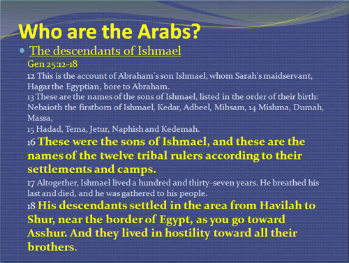 Who are the Arabs?