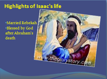 Married Rebekah & Blessed by God after Abraham's death