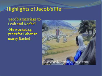 Jacob's marriage to Leah and Rachel.