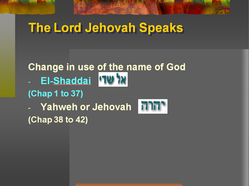 Change in the use of God's Name